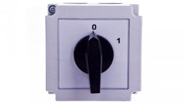 Łącznik krzywkowy 0-1 4P 25A w obudowie 4G25-92-PK 63-840398-031