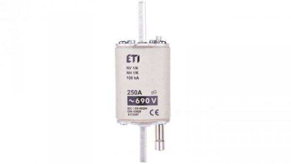 Wkładka bezpiecznikowa z wybijakiem NH1 250A gG 690V WT-1 004113347