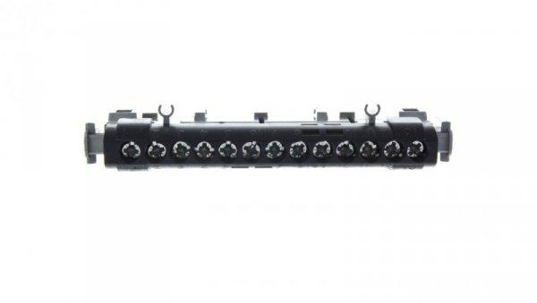 Listwa przyłączowa 13-otworów czarna IP2x C13 1x6-25+12x1,5-16mm2 004854