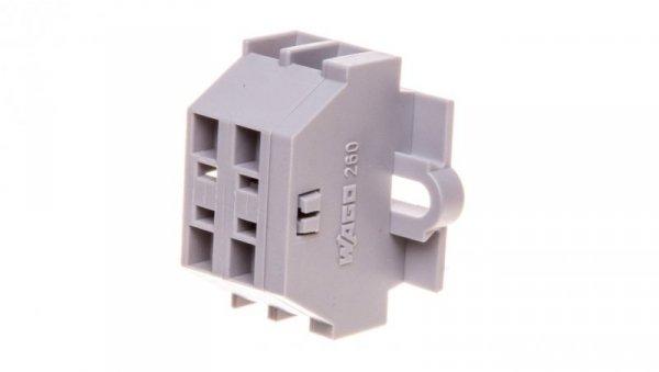 Złączka 2-przewodowa 1,5mm2 szara mocowanie srubowe 260-102  /100szt./
