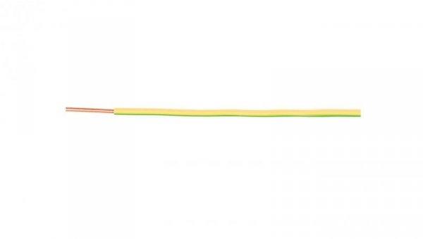 Przewód instalacyjny H07V-U (DY) 6 żółto-zielony /100m/