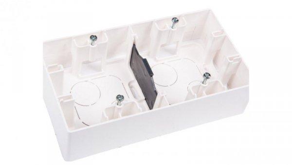 Puszka osprz n/t 4x 4mm2 159.5mm 88.5x 40mm IP44 biały n/t podwójna biala 664799
