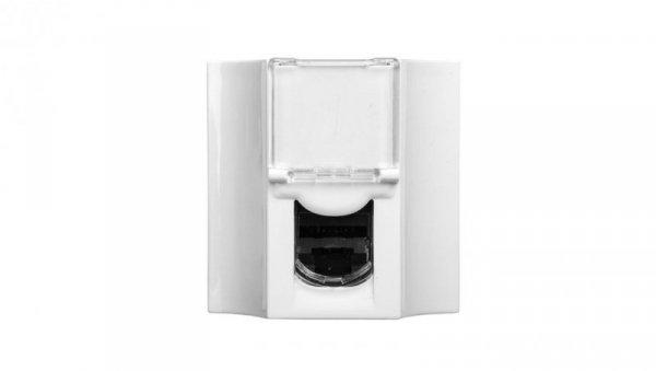 MOSAIC Gniazdo komputerowe przelotowe RJ45 kat.6 FTP białe 078623
