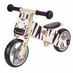 Drewniany rowerek biegowy trójkołowy 2w1 balansowy - ZEBRA Ecotoys