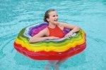 Dmuchane koło do pływania tęczowa wstążka 115cm Bestway 36163