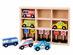 Drewniany zestaw samochodzików Ecotoys