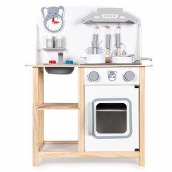 Drewniana kuchnia dla dzieci z efektami + dodatki Ecotoys