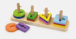 Klocki z sorterem kształtów - puzzle Viga