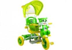 Rower Trójkołowy Kotek Zielony Dla Dzieci Rowerek
