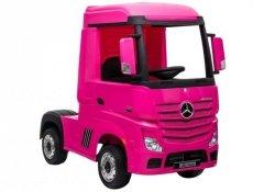 Auto Ciężarówka Tir na Akumulator Mercedes Actros Różowy MP4