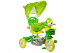 Rower Trójkołowy Piesek Zielony Dla Dzieci Rowerek