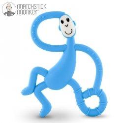Terapeutyczny Gryzak Masujący ze Szczoteczką Matchstick Monkey Dancing Light Blue