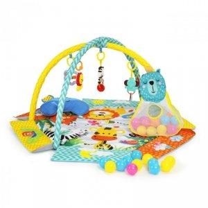 Mata edukacyjna 3w1kojec basen zabawki piłeczki