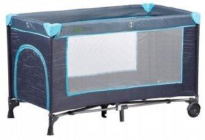 Łóżko łóżeczko turystyczne kojec moskitiera granatowe Ecotoys