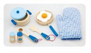 Drewniany zestaw śniadaniowy - blue Viga