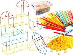 Słomki do budowania klocki konstrukcyjne BOX 1700 elementów