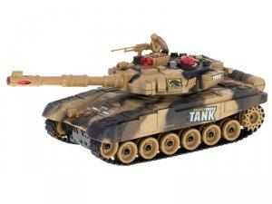 Czołg zdalnie sterowany RC Big War Tank 9995 duży 2.4 GHz piaskowy
