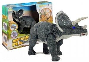 Duży Dinozaur Na Baterie Triceratops Szary Chodzi