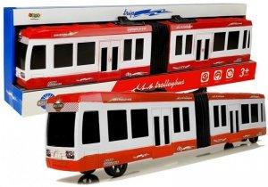 Duży Autobus Przegubowy z Napędem Czerwony