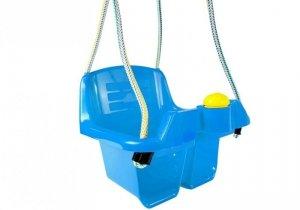 Huśtawka kubełkowa dla dzieci niebieska