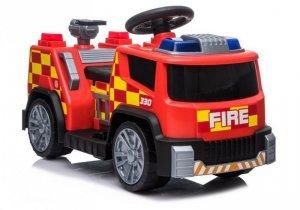 Wóz strażacki na akumulator z dźwiękami TR1911 Czerwony
