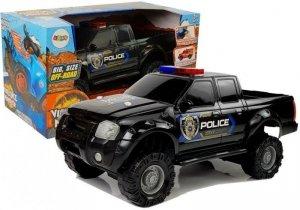 Duże Auto Policyjne z Naciągiem Pick Up Terenowe Niebieskie