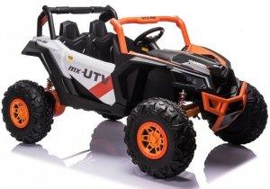 Auto na Akumulator  Buggy UTV-MX Pomarańczowo-Biały MP4