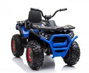Duży quad na akumulator dla dzieci, amortyzatory, miękkie koła, pilot, wolny start, 4x4