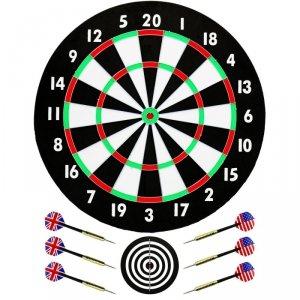 Dart kartonowy rzutki 46cm i 6 rzutek Best Sporting