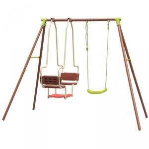 Huśtawka ogrodowa dla dzieci 3 osobowa plac zabaw dla dzieci