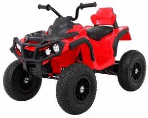 Quad na akumulator dla dzieci ATV Pompowane Koła Czerwony