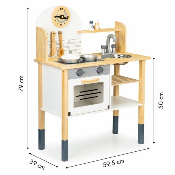 Drewniana kuchnia dla dzieci + akcesoria Ecotoys