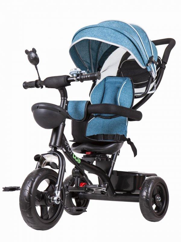 Rowerek trójkołowy obracane siedzisko Niebieski
