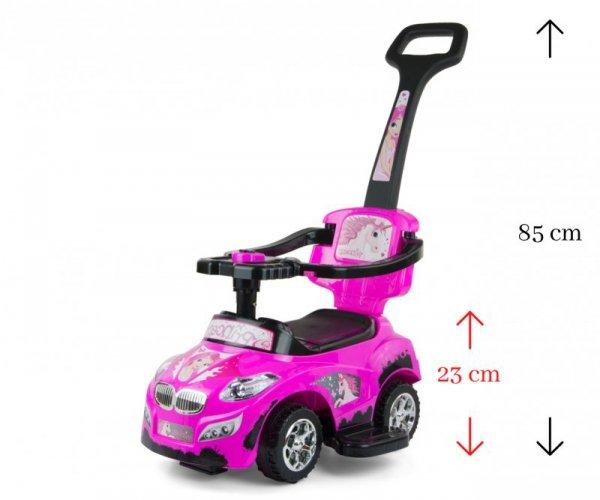 Jeździk 3w1 Pojazd Happy Pink Milly Mally