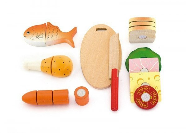 Drewniany zestaw do krojenia - lunch box Viga