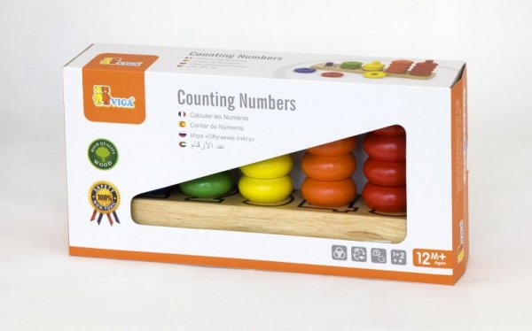 Drewniane piramidki - licz kolorami Viga