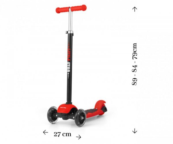 Hulajnoga Scooter Little Star Red 3w1 Milly Mally