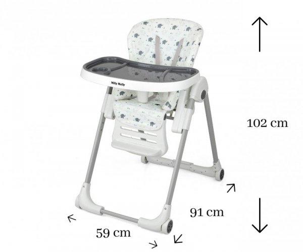 Krzesełko do karmienia MILANO Jumbo Milly Mally
