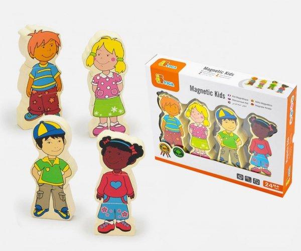 Drewniane figurki magnetyczne - dzieci Viga