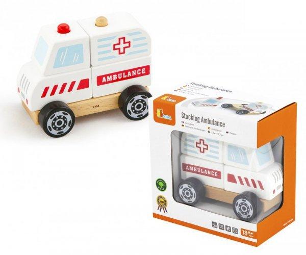 Drewniane klocki ambulans Viga
