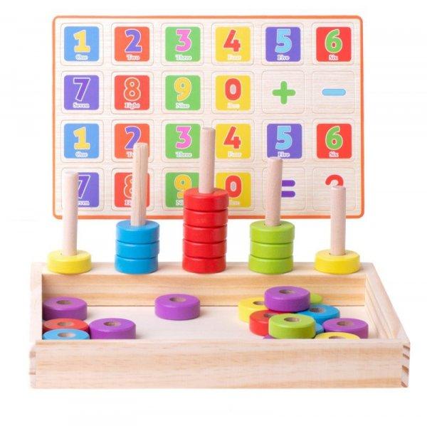Liczydło drewniane edukacyjne nauka liczenia