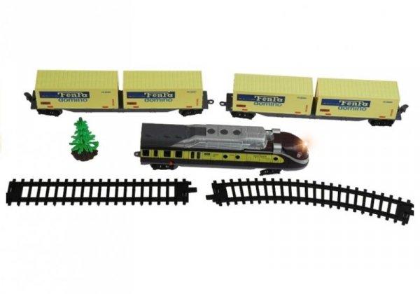 Kolejka FENFA 3 wagony światło akcesoria 1:87