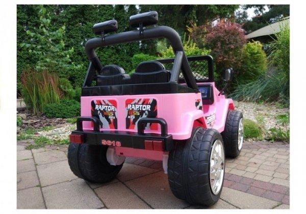 Auto na akumulator Raptor Dwuosobowy Różowy