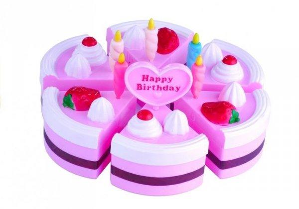 Duży Zestaw Serwis Urodzinowy Tort 32 Elementy