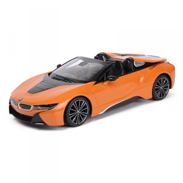 Auto zdalnie sterowane R/C BMW i8 Roadster Rastar 1:14 Pomarańczowy