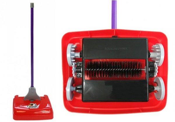 Wózek Sprzątaczki z Obrotową Szczotką + Akcesoria