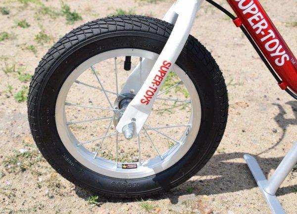 Rowerek biegowy  exclusive pompowane koła, aluminiowe felgi, hamulec
