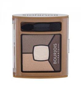 BOURJOIS PARIS Smoky Stories Quad Eyeshadow Palette cienie do powiek dla kobiet 3,2g (06 Upside Brown)