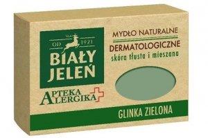 BIAŁY JELEŃ Apteka Alergika mydło naturalne do skóry tłustej i mieszanej Glinka Zielona 125g