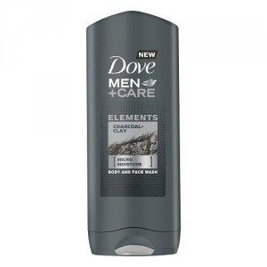 DOVE Men+Care Elements Micro Moisture Body And Face Wash żel pod prysznic do mycia ciała i twarzy Charcoal Clay 400ml